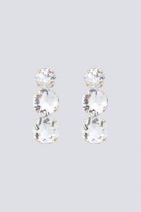 Orecchini in ottone placcato oro con maxi cristalli - CA&LOU - Noleggio Drexcode - 1