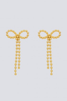 Maxi orecchini in ottone con finitura in oro giallo - CA&LOU - Noleggio Drexcode - 1