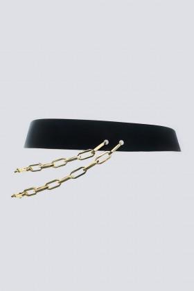 Cintura doppia catena in pelle - Maison Vaincourt - Vendita Drexcode - 1