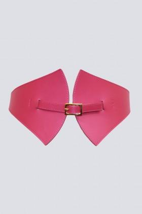 Cintura in pelle magenta - Maison Vaincourt - Vendita Drexcode - 1