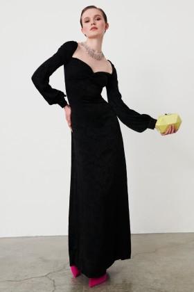 Abito in jacquard di seta con maniche lunghe - Valentina Nervi - Vendita Drexcode - 1