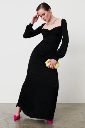 Abito in jacquard di seta con maniche lunghe - Valentina Nervi - Vendita Drexcode - 2