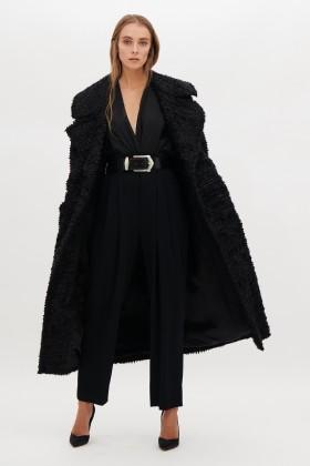 Cappotto nero bouclè - Redemption - Vendita Drexcode - 1