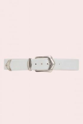 Cintura bianca con fibbia invecchiata - IRO - Vendita Drexcode - 1