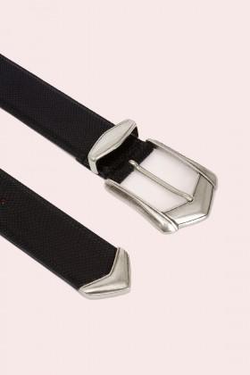Cintura nera con fibbia invecchiata - IRO - Vendita Drexcode - 2