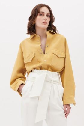 Camicia in suede gialla - IRO - Vendita Drexcode - 1