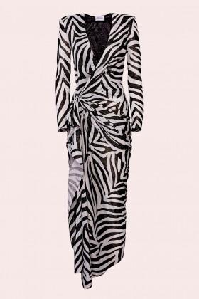 Abito lungo stampa zebra - Redemption - Noleggio Drexcode - 1