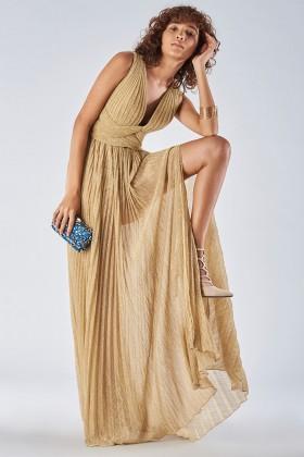 Abito oro glitterato intrecciato  - Iris Serban - Noleggio Drexcode - 1