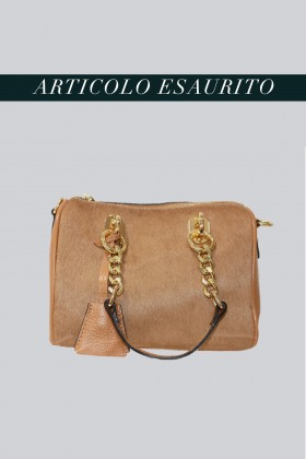 Mini bauletto in cavallino beige - AM - Vendita Drexcode - 1
