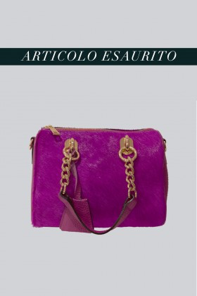 Mini bauletto in cavallino viola - AM - Vendita Drexcode - 1