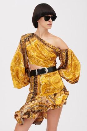 Mini abito giallo con stampa beduina - Bronx and Banco - Noleggio Drexcode - 1