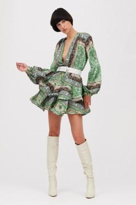 Mini abito verde con stampa beduina - Bronx and Banco - Vendita Drexcode - 1