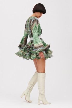 Mini abito verde con stampa beduina - Bronx and Banco - Noleggio Drexcode - 2