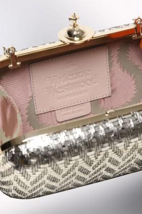 Clutch metallica oro - Vivienne Westwood - Noleggio Drexcode - 2