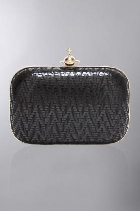 Clutch metallica nera - Vivienne Westwood - Noleggio Drexcode - 1