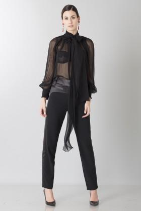 Camicia nera in seta - Blumarine - Noleggio Drexcode - 1