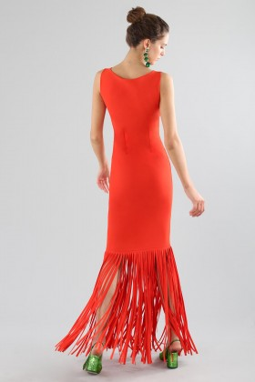 Abito rosso con frange - Chiara Boni - La Petite Robe - Noleggio Drexcode - 2