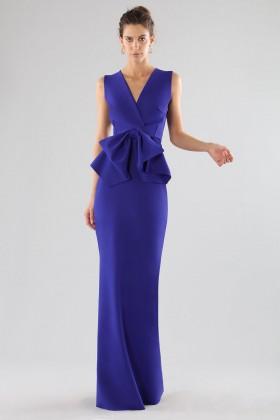 Abito lungo con maxi fiocco  - Chiara Boni - La Petite Robe - Noleggio Drexcode - 1