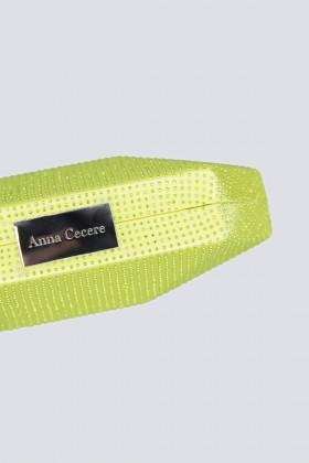 Clutch geometrica limone con strass - Anna Cecere - Noleggio Drexcode - 2