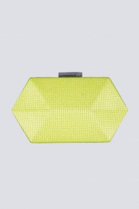 Clutch geometrica limone con strass - Anna Cecere - Vendita Drexcode - 2