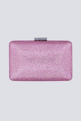 Clutch piatta rosa con strass - Anna Cecere - Noleggio Drexcode - 1