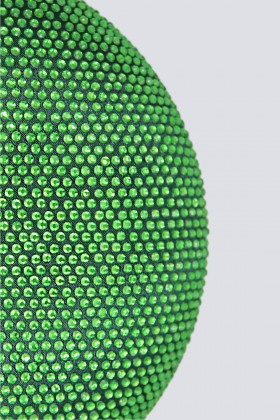 Clutch tonda verde con pietre - Anna Cecere - Noleggio Drexcode - 2