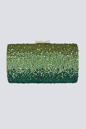 Clutch verde degrade con glitter - Anna Cecere - Noleggio Drexcode - 1