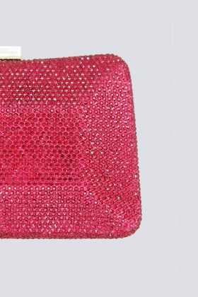 Clutch curva rossa con strass - Anna Cecere - Noleggio Drexcode - 2