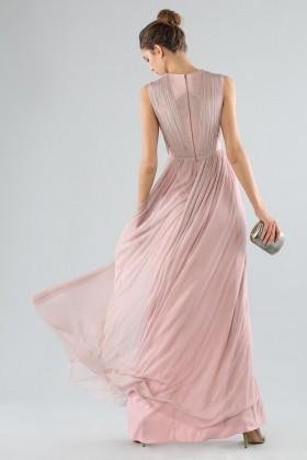 Abito rosa lungo con scollo profondo - Cristallini - Noleggio Drexcode - 2