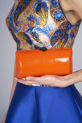 Clutch arancione in vernice - Rodo - Vendita Drexcode - 2