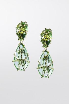 Orecchini con cristallo verdeRosantica