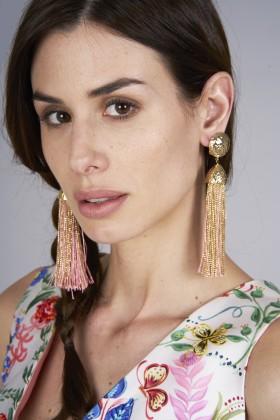 Orecchini in corda oro e rosa - Rosantica - Noleggio Drexcode - 2