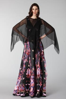 Copri abito in chiffon neroAlberta Ferretti