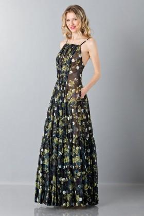 Abito lungo con motivo floreale - Vera Wang - Noleggio Drexcode - 1