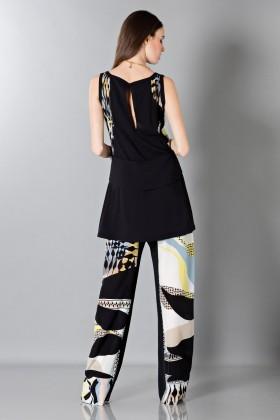 Pantalone e top in seta fantasia - Antonio Berardi - Vendita Drexcode - 2