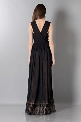 Vestito nero lungo con scollo a VAlberta Ferretti