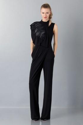 Jumpsuit nera con collo asimmetrico - Vionnet - Noleggio Drexcode - 1