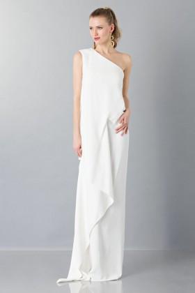 Vestito lungo monospalla bianco - Vionnet - Noleggio Drexcode - 1
