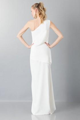 Vestito lungo monospalla bianco - Vionnet - Noleggio Drexcode - 2