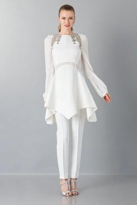 Pantalone bianco in cadyAntonio Berardi