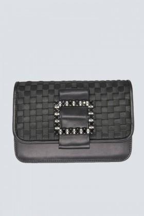 Clutch nera intrecciata - Emanuela Caruso - Noleggio Drexcode - 1