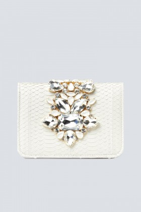 Clutch panna gioiello - Emanuela Caruso - Vendita Drexcode - 1