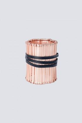 Bracciale morbido con cinturino in pelle - Federica Tosi - Noleggio Drexcode - 1