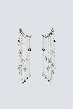 Orecchini multipendenti argento lunghi - Federica Tosi - Noleggio Drexcode - 1