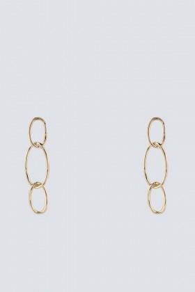 Orecchini oro con pendenti ovali - Federica Tosi - Noleggio Drexcode - 1