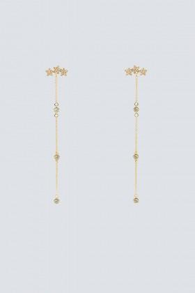 Pendenti oro lunghi con stelline - Federica Tosi - Noleggio Drexcode - 1