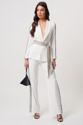 Tailleur bianco con inserti in paillettes - Forever unique - Noleggio Drexcode - 1