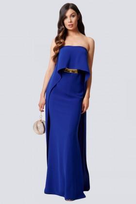 Abito blu con drappeggio - Forever unique - Noleggio Drexcode - 1