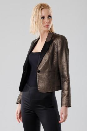 Giacca oro corta - Giuliette Brown - Noleggio Drexcode - 1