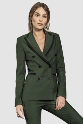 Giacca verde doppiopetto in lana - Giuliette Brown - Noleggio Drexcode - 1